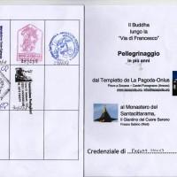 30-1°gen19, come il Buddha sulla Via di Francesco. Diario cammino 27dic-1gen'19. Da La Pagoda al Santacittarama